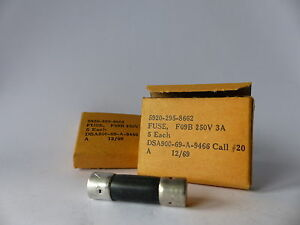 5x BUSS F09B Fuse 250V 10 x 38 mm Sicherung 4.5 Ampere