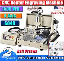 Usb 4 Axis Cnc 6040 Router Engraver Millingdrilling Machine Vfd Spindle 1500w