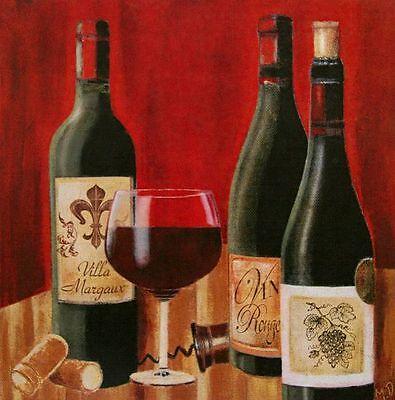Maria Donovan: A Tasting I Fertig-Bild 30x30 Wandbild Wein Küche Flaschen Deko