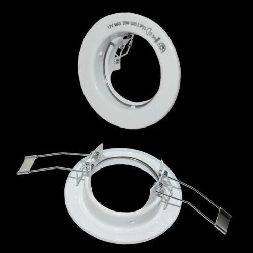 6 x Einbaustrahler Loch 55 mm Ø Einbaurahmen Einbauring Einbauleuchten weiß Spot