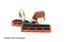 1:64 FOR COWS PIGS LIVESTOCK FEED TROUGH PLASTIC 3D TO SCALE DIORAMA ACCESSORY