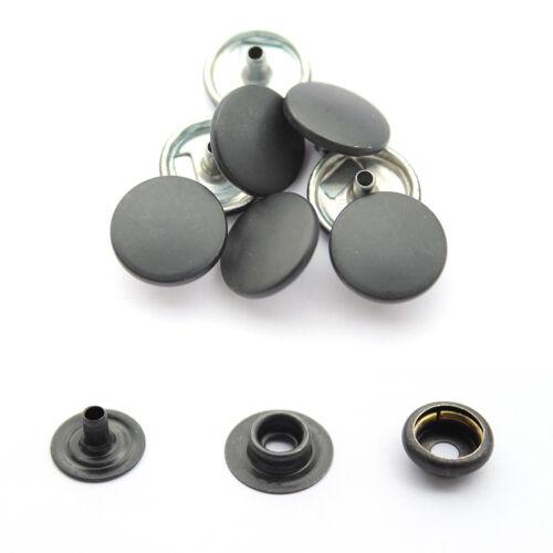 10 Conjunto de 15mm prensa tachuelas Heavy Duty 4 piezas Snap Sujetadores Remaches Botones