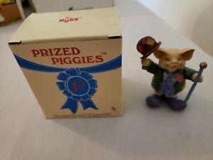 NEW-Prized-Piggies-Sculptstone-Figurine-034-Hobo-034-Russ-Berrie-amp-Co