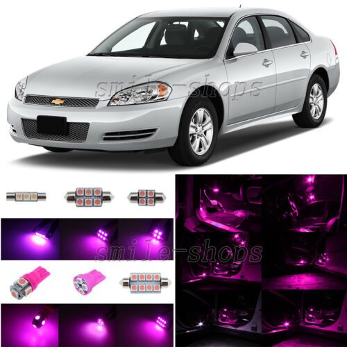 11x Pink//Purple LED Interior Light Package For 2006-2012 Chevrolet Chevy Impala