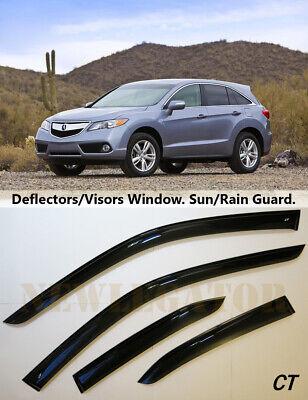Side Window Visors Sun Guard Vent Deflectors for Acura RDX 2013-2018