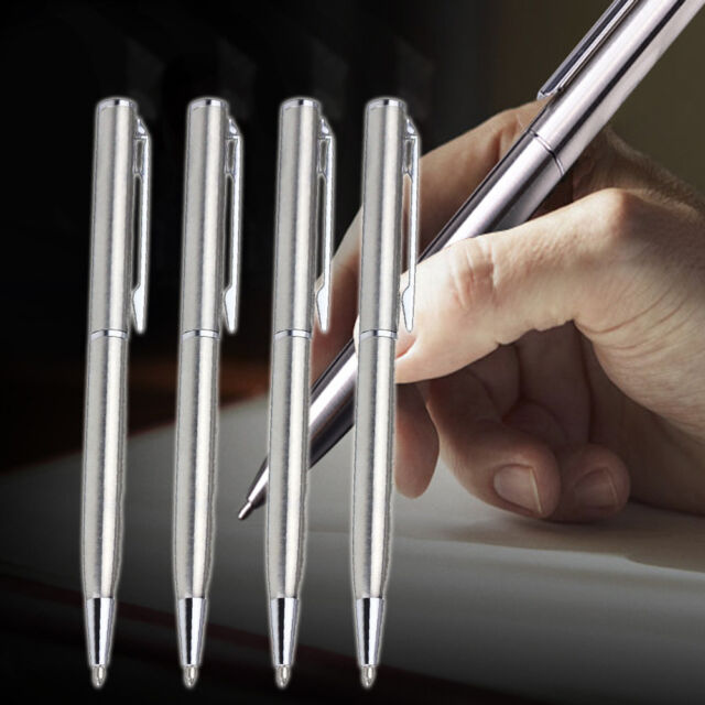 Stainless Steel Ballpoint Pen Office Student Ball Point Writing Pen Stationery