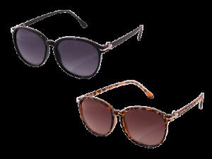 12 Sonnenbrillen für Damen 2-farbig sortiert