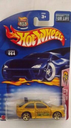 2003 Hotwheels Ford Escort Flamin/' Hot Wheels 5//5 # 064 1//64 Scale