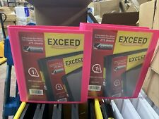 Binders Exceed 1 Inch Heavy Duty Binder Pink D Ring Holds 275 Sheets 2 Pack