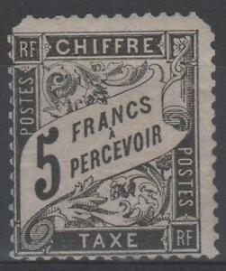 FRANCE-STAMP-TIMBRE-TAXE-N-24-034-TYPE-DUVAL-5F-NOIR-034-NEUF-xx-RARE-A-VOIR-N587