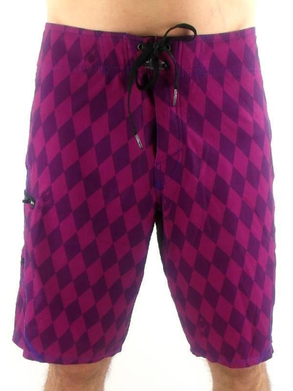 O'Neill Boardshort Badehose Hyperfreak fuchsia Rauten Tasche elastisch
