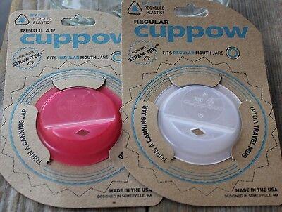 CUPPOW LID adaptor Straw Sippy top JAR mason ball water bottle Wide Regular Glas