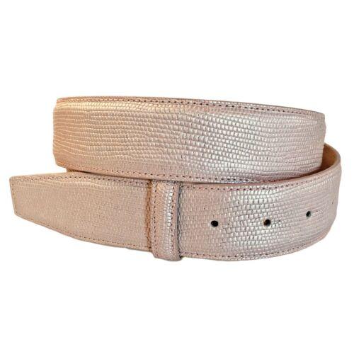 VMP Damen Gürtel Glammy AME929 aus Leder in Metallic beige rosa gold silber