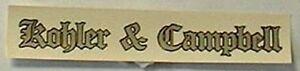 Acheter Pas Cher Kohler & Campbell Piano Fallboard Decal-afficher Le Titre D'origine Clair Et Distinctif