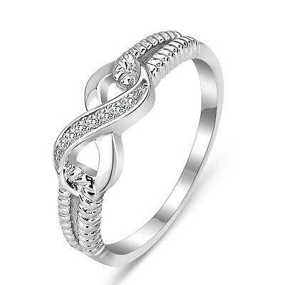 925 Sterling Silver Infinity Ring Endless Love Symbol S925 Stamped Rings Band