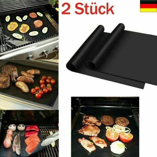 2er Set PREMIUM Dauer BBQ Grillmatte Grillunterlage Teflon Backmatte Bratfolie D