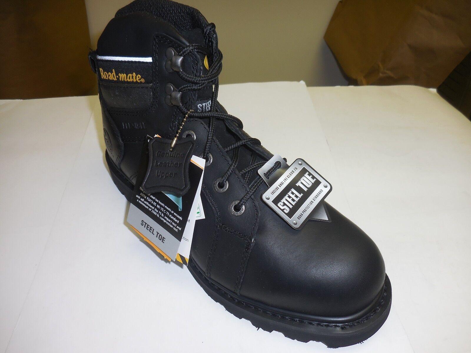 Roadmate Para Hombre 6' negro Oil F g Shock Absobing Flex Steel Toe botas De Trabajo 401s