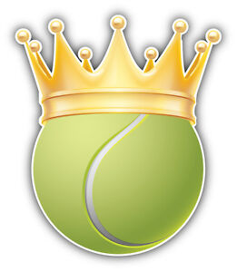 Tennis Ball Golden Crown Car Bumper Sticker Decal 4 X 5