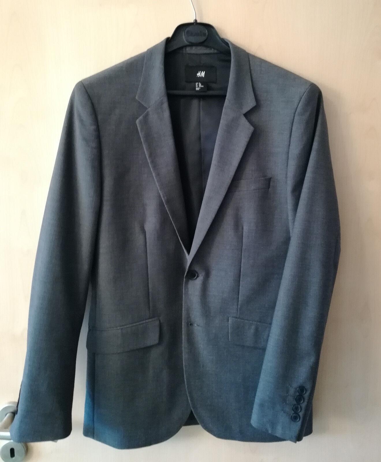 H&M Herren Anzug, Slim Fit, grau, Größe 46. Zustand WIE NEU