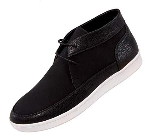 Sio Casual Pebble Grain&Faux Suede Moc Toe HighTop Casual Sio Sneaker Blk/Weiß Style Tyson 7fa536