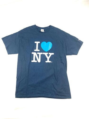 NY I Love NY Grey T Shirt Licensed Officially By I
