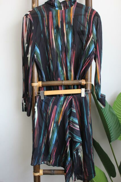 Life With Bird Size 4 Womens Colourful Abstract 2 Piece Blouse and Skirt Set