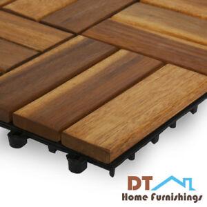 Image Is Loading Patio Deck Interlocking Floor Tiles Wood Outdoor Home