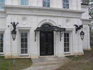 Incredible Large Griffin Cast Iron Mansion Estate Sconces