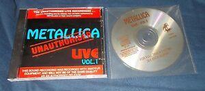 Metallica-Live-Unauthorised-vol-1-amp-vol-2-fade-to-black-Master-of-Puppets