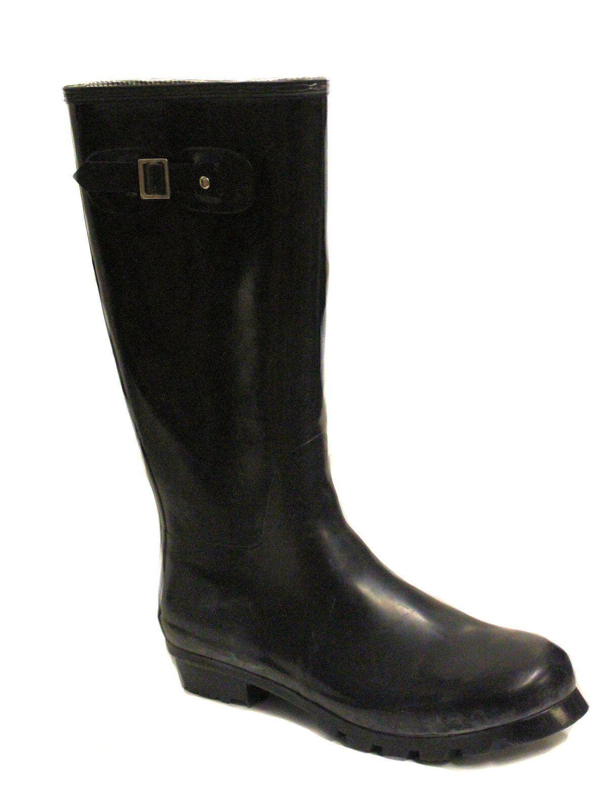 14TH & Union Women's Highland Rubber Boot Black US 11 NOB NWD Scuffs