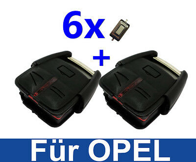 2x Key Remote Control Housing for OPEL VECTRA C SIGNUM + 6 X Micro Push Button