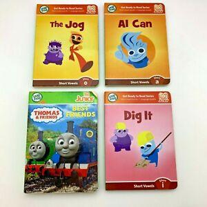 Lot-of-4-LeapFrog-Tag-Junior-Books-Thomas-the-Tank-Short-Vowels-A-I-O