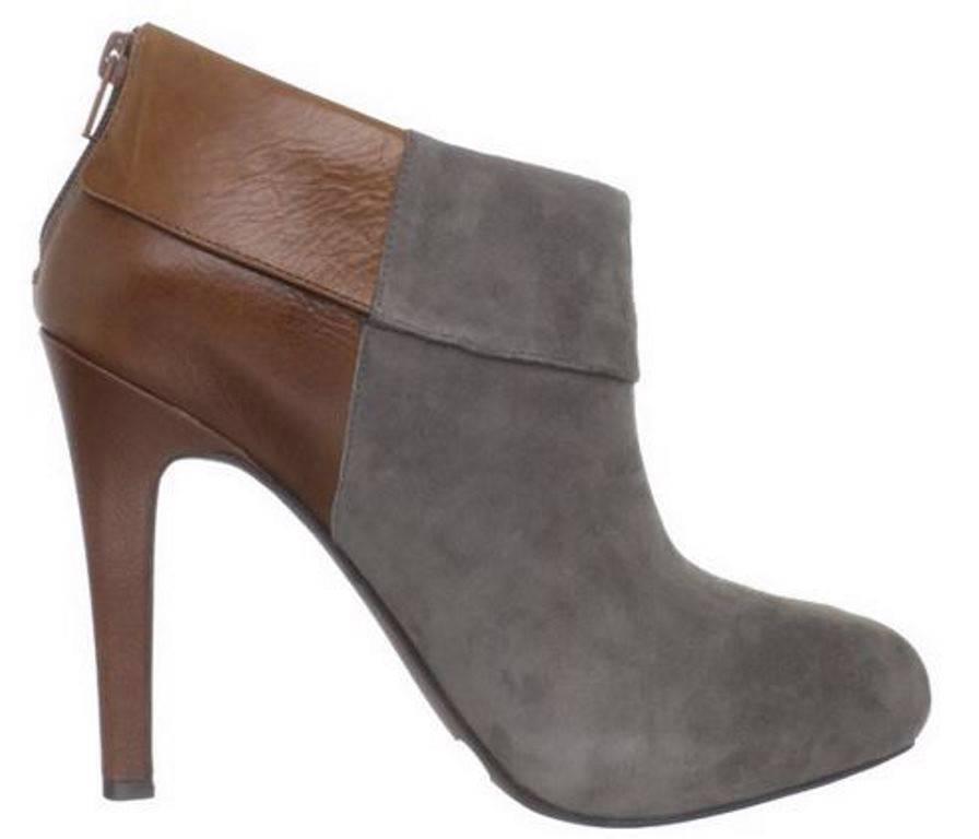 Women's Jessica Simpson AUDRIANA Platform Ankle Boots Heels Charcoal Amaretto
