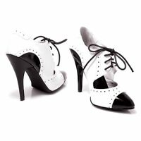 Ellie Shoes 511 Gangster 5 Stiletto High Heel Pointy Shoe Boots Lace Up