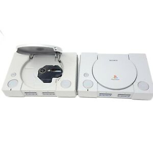 Lot of (2) Sony PlayStation 1 PS1 Original Gray Console FOR PARTS AS IS