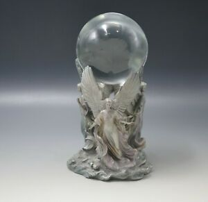 Details about FRANKLIN MINT PEWTER ANGELS OF HOPE CRYSTAL BALL SCULPTURE  JEANE DIXON
