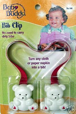 Baby Buddy Bib Clip Pink