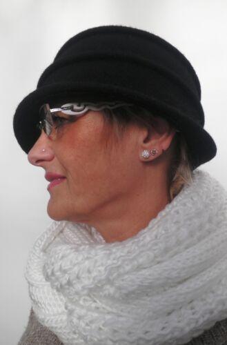 Gorro lana 20er negros damenmützen sombreros ocasión sombreros otoño invierno cálido Schick