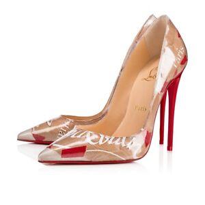 6d710e4de69 Christian Louboutin So Kate 120 Red Nude Loubi Kraft Patent PVC Heel ...