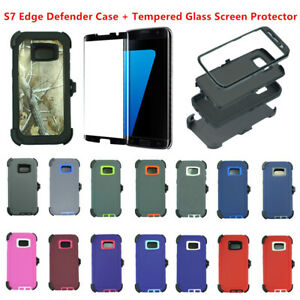 online store de5b2 b0d1d Details about For Samsung Galaxy S7 Edge w/Clip Fit Otterbox Defender Case  & Screen Protector