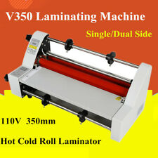 13cold Hot Roll Laminator Single Doubelsided Thermal Laminatin Speed Adjustable