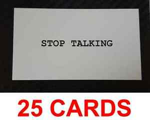 25 new stop talking cards funny business card prank joke deal free image is loading 25 new 034 stop talking 034 cards funny colourmoves