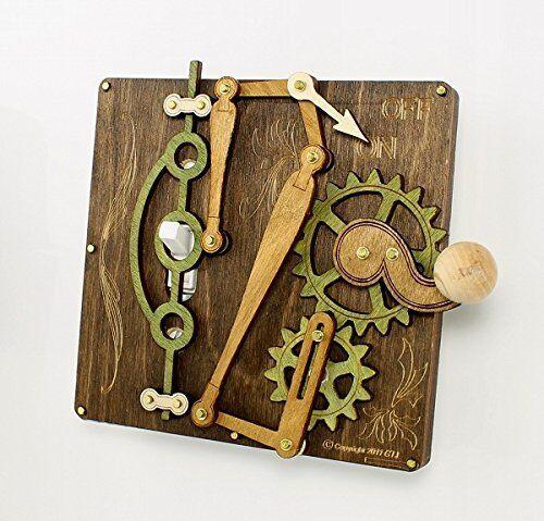 Grün Tree Jewelry Single Lever braun Wood Light Switch Plate