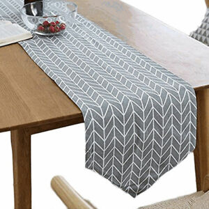 Home-Cotton-Linen-Plaid-Print-Table-Runner-Wedding-Tablecloth-Party-Dinner-Decor