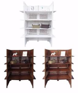 2-Way-Display-4-Panel-Heavy-Duty-Indian-Screen-4-Shelves-Bookcase-Room-Divider