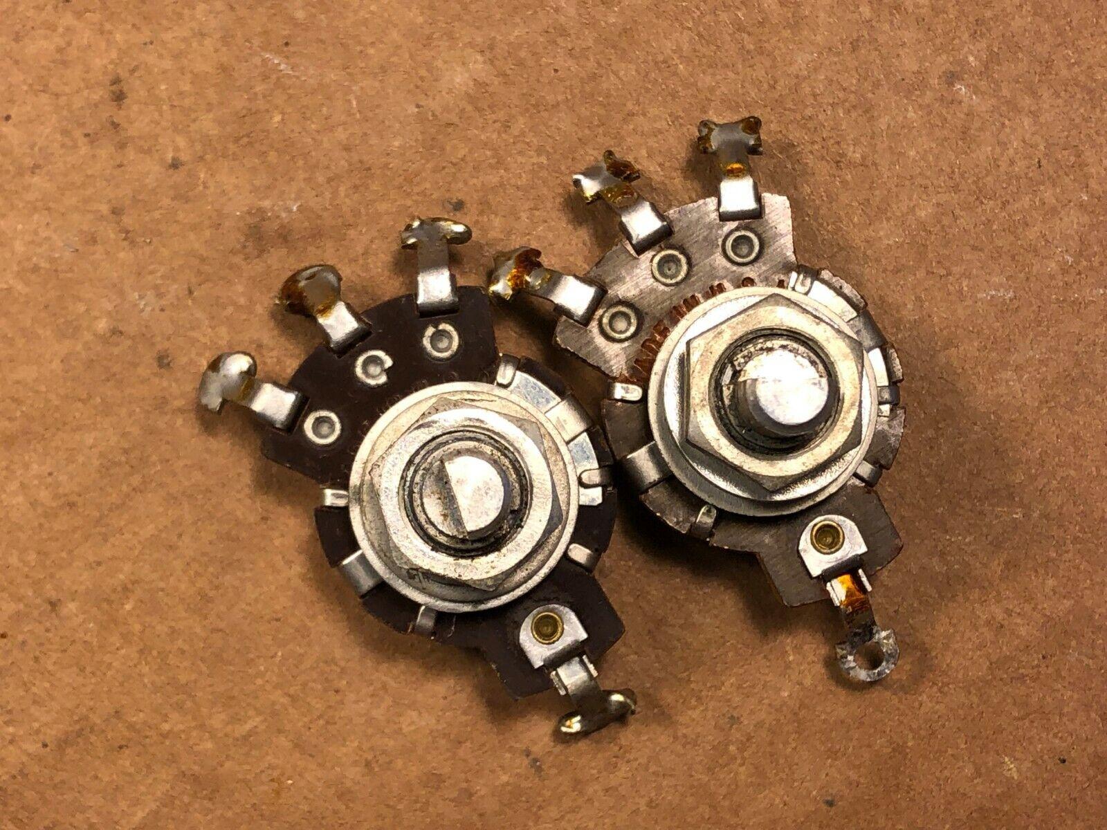 Pair Vintage 1956 Stackpole 1 meg ohm Guitar Amp Potentiometers Audio Taper Pots