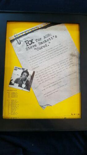 Steve Hackett Cured Rare Original Promo Poster Ad Framed!