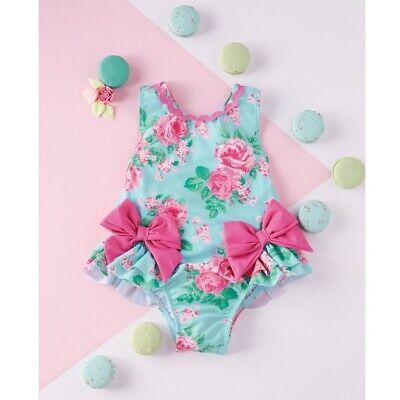 Mud Pie Girls Pink Bow Swimsuit