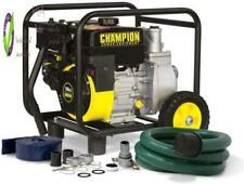 Champion 66520 2 Inch Gas Powered Semi Trash Water Transfer Pump With Hose And W