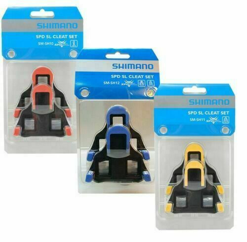 New Shimano SM-SH10//11//12 Cleat Set 0//2//6° Float SPD-SL Road Bike Pedal Cleats